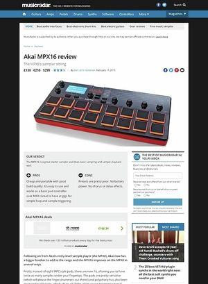 MusicRadar.com Akai MPX16