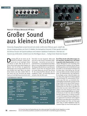 Soundcheck Tech 21 VT Bass Deluxe & VT Bass