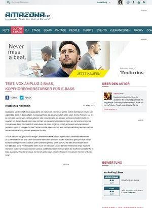 Amazona.de Test: Vox Amplug 2 Bass, Kopfhörerverstärker für E-Bass