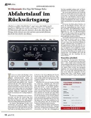 Guitar TC Electronic Alter Ego X4 Vintage Echo