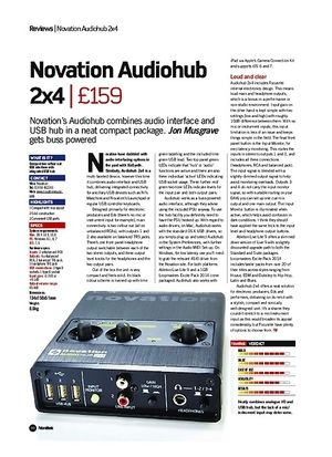 Future Music Novation Audiohub 2x4