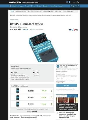 MusicRadar.com Boss PS-6 Harmonist