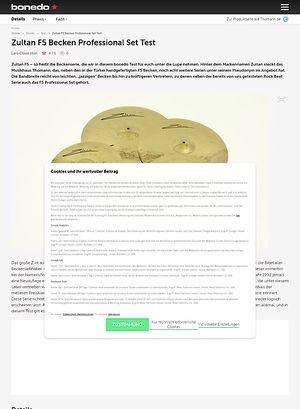 Bonedo.de Zultan F5 Becken Professional Set
