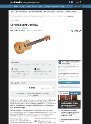 MusicRadar.com Cordoba Mini O