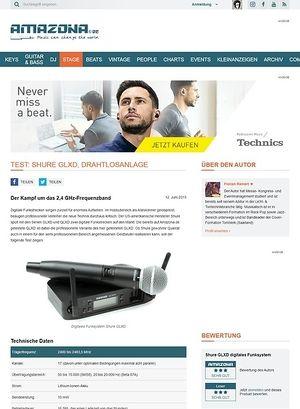 Amazona.de Test: Shure GLXD, digitales Funksystem