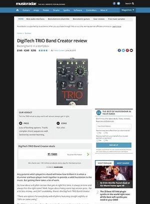 MusicRadar.com DigiTech TRIO Band Creator