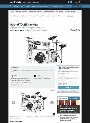 MusicRadar.com Roland TD-25KV