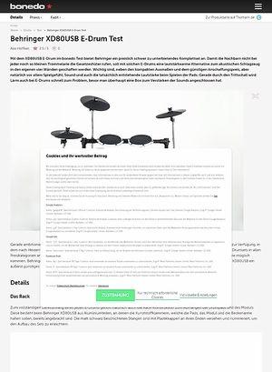 Bonedo.de Behringer XD80USB E-Drum