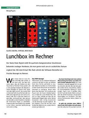 Recording Magazin Slate Digital Virtual Mix Rack