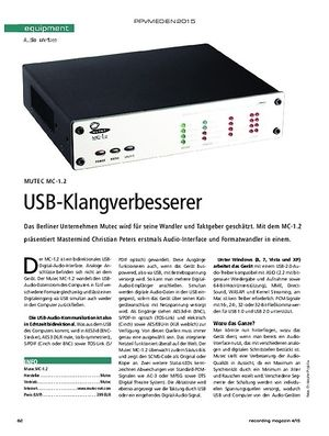 Recording Magazin Mutec MC-1.2