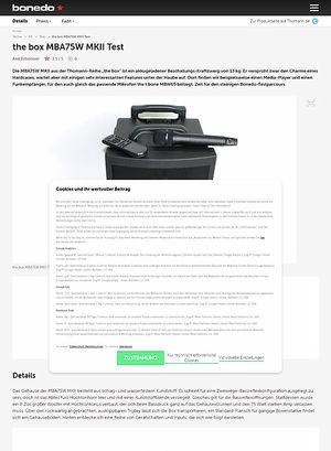 Bonedo.de the box MBA75W MKII