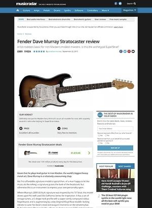 MusicRadar.com Fender Dave Murray Stratocaster