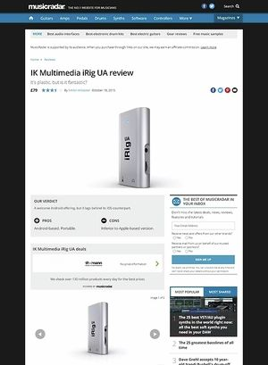 MusicRadar.com IK Multimedia iRig UA
