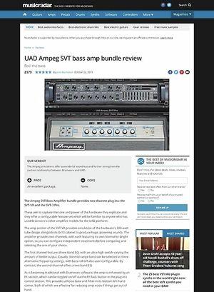 MusicRadar.com UAD Ampeg SVT bass amp bundle