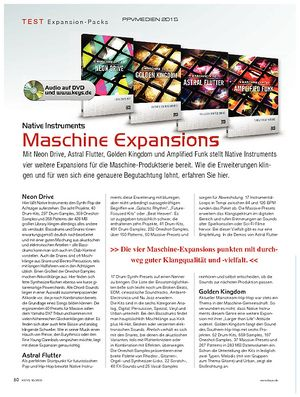 KEYS Native Instruments Maschine Expansions