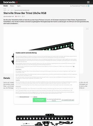 Bonedo.de Stairville Show Bar Triled 18x3w RGB
