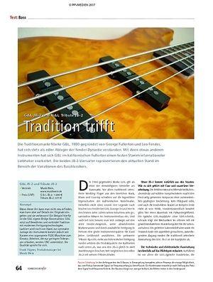 Soundcheck Test - G&L JB-2 und G&L Tribute JB-2