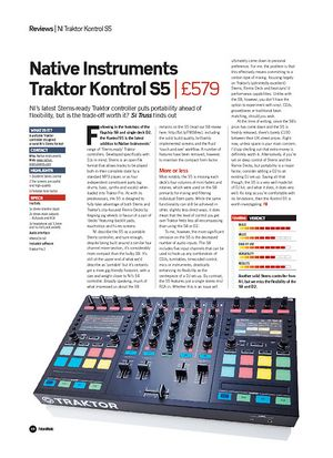 Future Music Native InstrumentsTraktor Kontrol S5