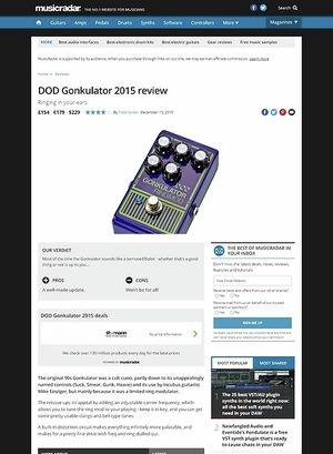 MusicRadar.com DOD Gonkulator 2015
