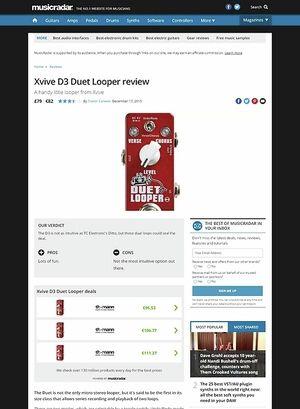 MusicRadar.com Xvive D3 Duet Looper
