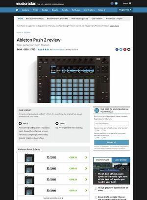 MusicRadar.com Ableton Push 2
