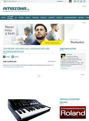 Amazona.de Top News: Roland A-01, Controller und Soundgenerator