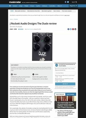 MusicRadar.com Rockett Audio Designs The Dude