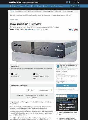 MusicRadar.com Waves DiGiGrid IOS