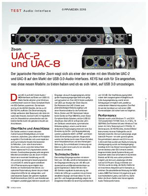 KEYS Zoom UAC-2 und -8