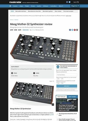 MusicRadar.com Moog Mother-32