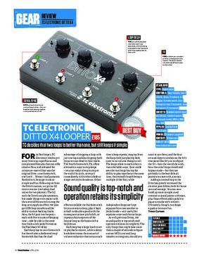 Total Guitar TC Electronic Ditto X4 Looper