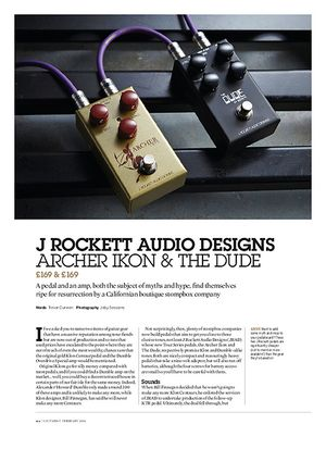 Guitarist J Rockett Audio Designs Archer Ikon & The Dude