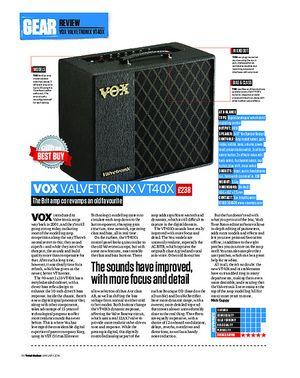 Total Guitar Vox Valvetronix VT40X