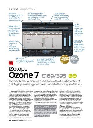 Computer Music iZotope Ozone 7