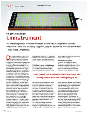 KEYS Roger Linn Design Linnstrument