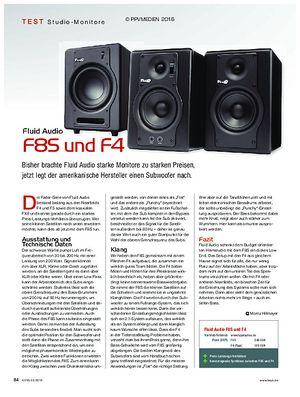KEYS Fluid Audio F8S und F4