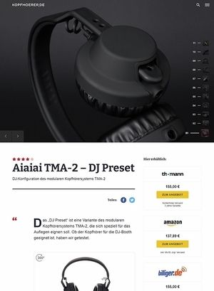 Kopfhoerer.de AIAIAI TMA-2 Modular DJ Preset