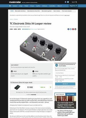 MusicRadar.com TC Electronic Ditto X4 Looper