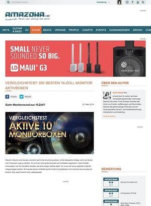 Amazona.de Vergleichstest: 10-Zoll Monitorboxen, the box Pro Mon A10, LD Systems GT10A, HK Audio PR:O Aktiv 10Xa, RCF ART 310A MKIII, Laney CXP-110