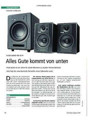Recording Magazin Fluid Audio F8S & F4