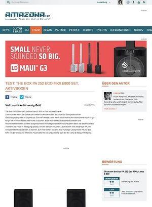 Amazona.de Test: the box PA 252 Eco MKII E800 Set, PA
