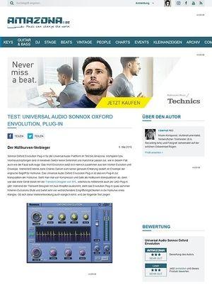 Amazona.de Test: Universal Audio Sonnox Oxford Envolution, Plug-in