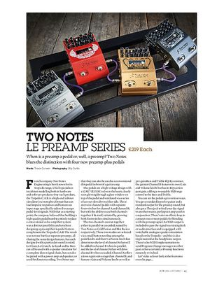 Guitarist Two Notes Le Preamp Series