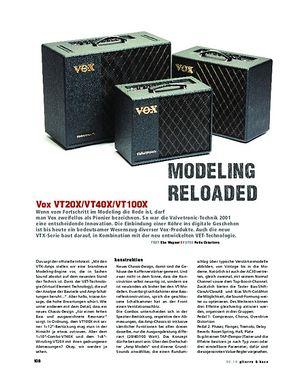 Gitarre & Bass Vox VT20X/VT40X/VT100X, Modeling-Combos