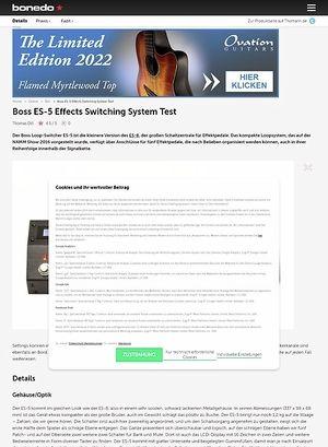 Bonedo.de Boss ES-5 Effects Switching System