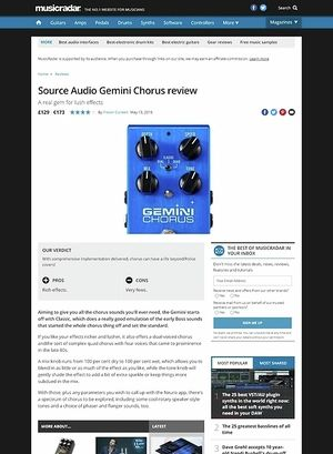 MusicRadar.com Source Audio Gemini Chorus