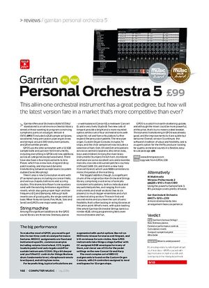 Computer Music Garritan Personal Orchestra 5