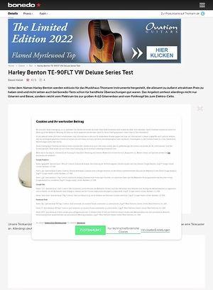 Bonedo.de Harley Benton TE-90FLT VW Deluxe Series