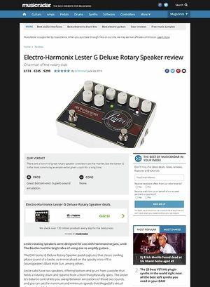 MusicRadar.com Electro-Harmonix Lester G Deluxe Rotary Speaker