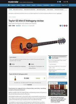 MusicRadar.com Taylor GS Mini-E Mahogany